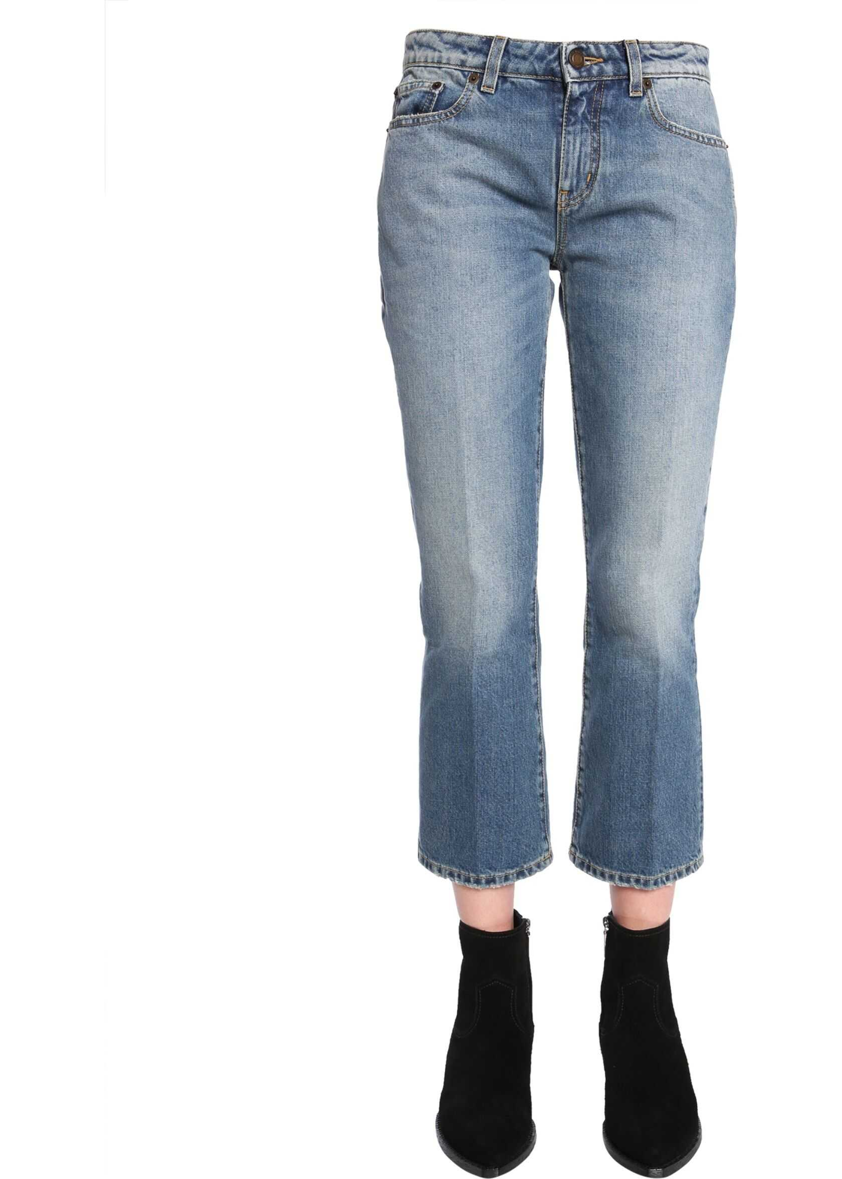 Saint Laurent Cropped Jeans BLUE