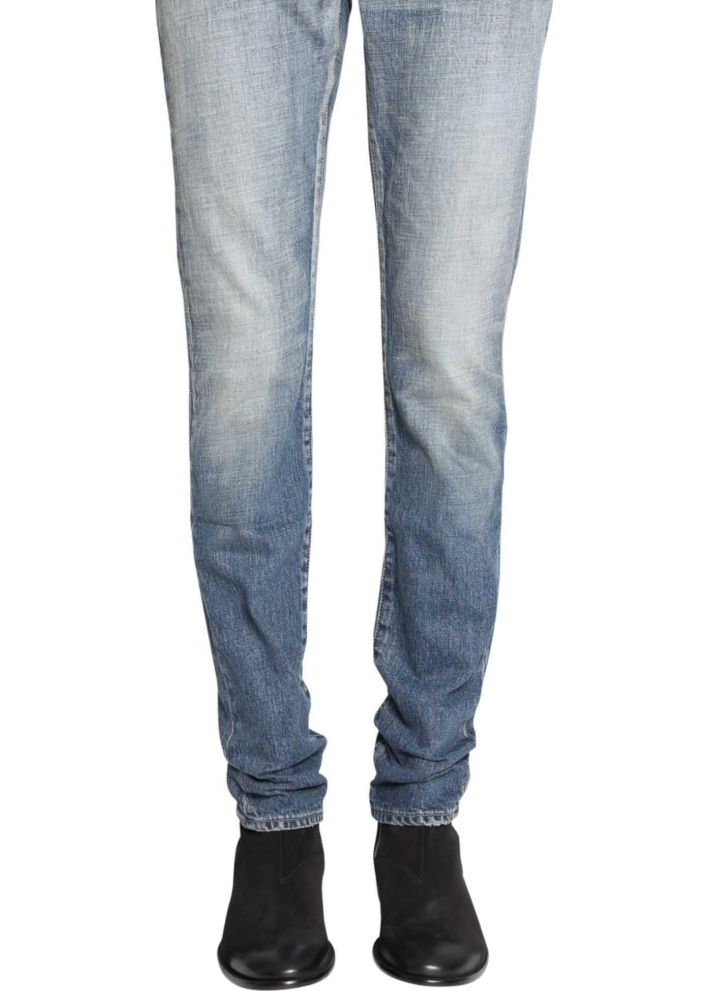 Saint Laurent Low-Rise Skinny Jeans BLUE