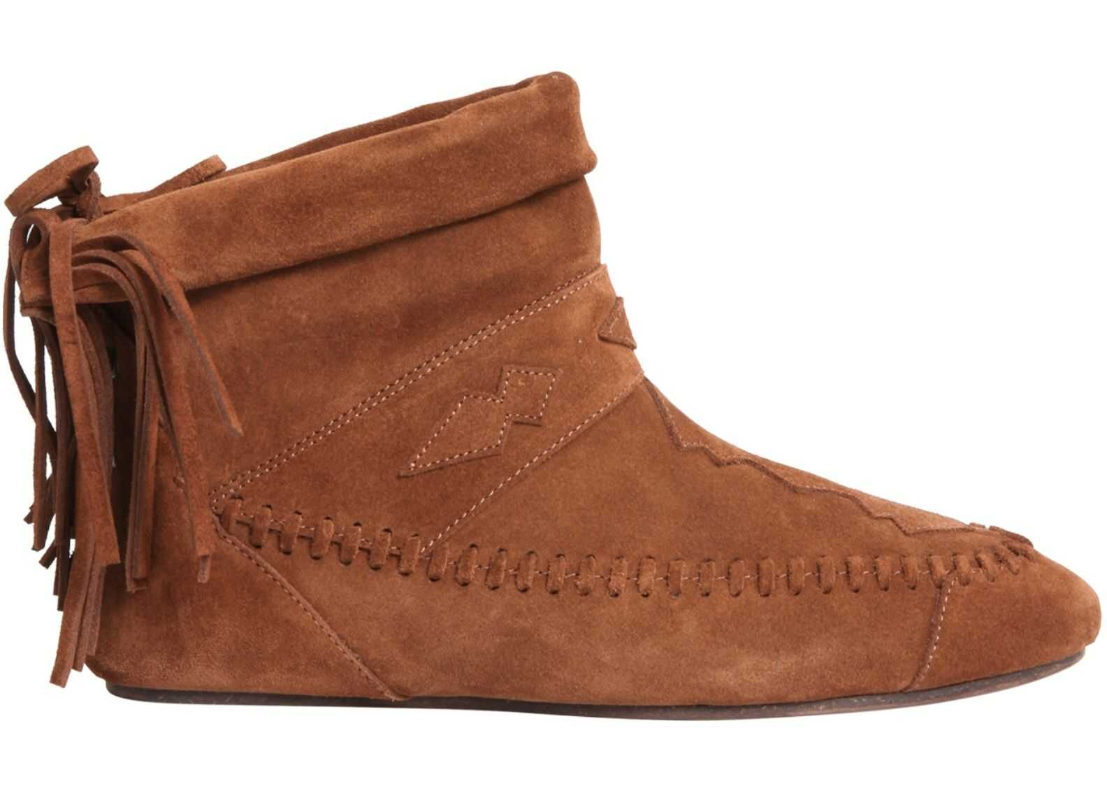 Saint Laurent Nino Fringed Boots BROWN
