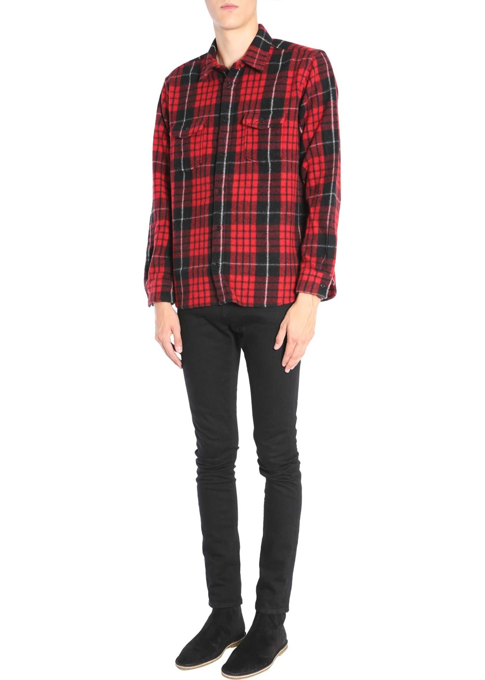 Saint Laurent Check Shirt RED