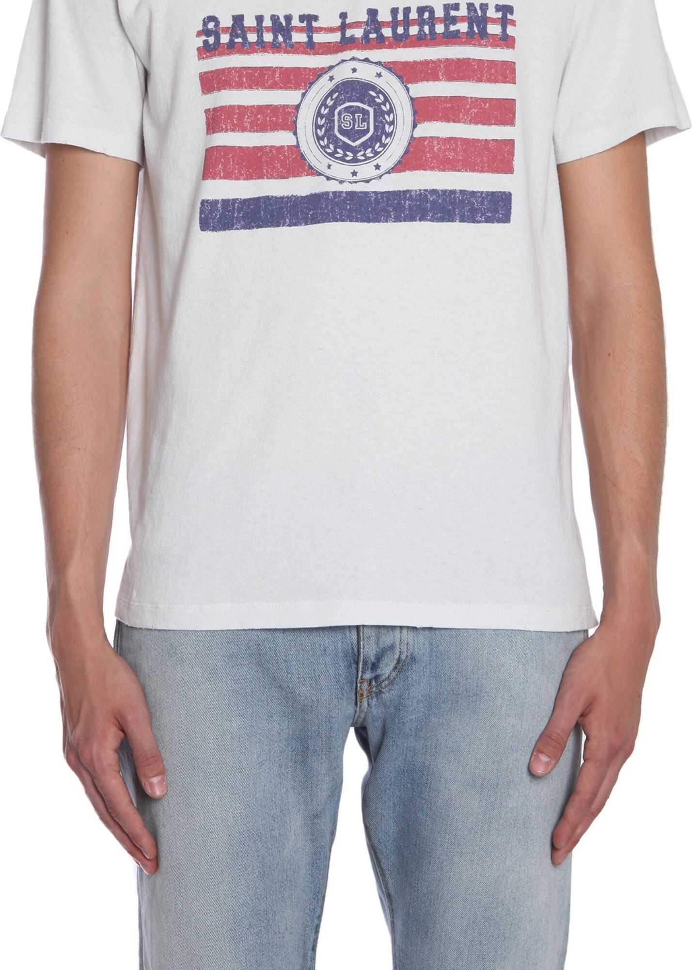 T-Shirt With Saint Laurent University Print