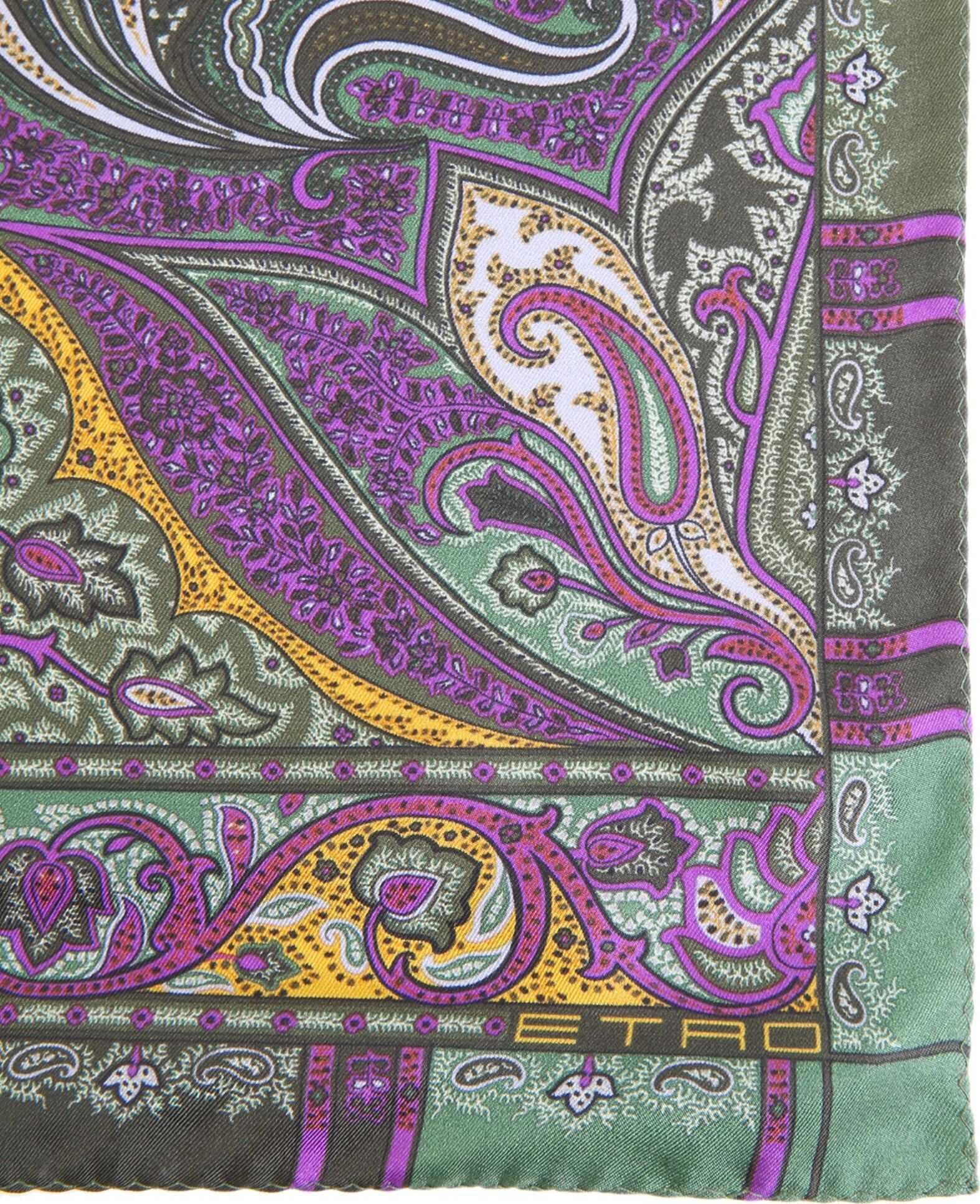 ETRO Paisley Pocket Square PURPLE