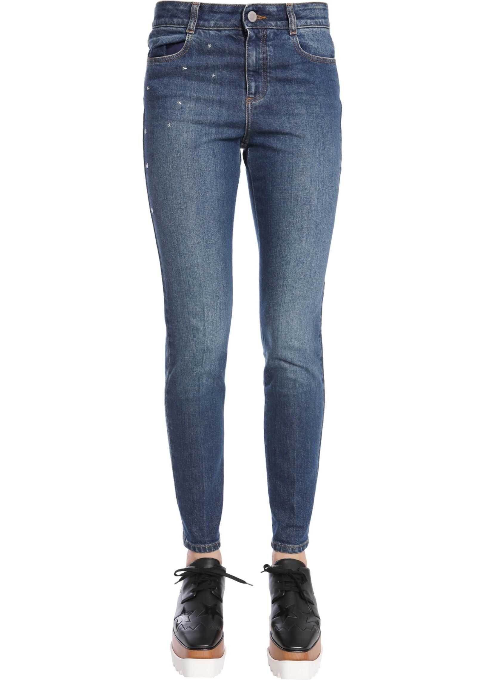 adidas by Stella McCartney High Waist Jeans BLUE
