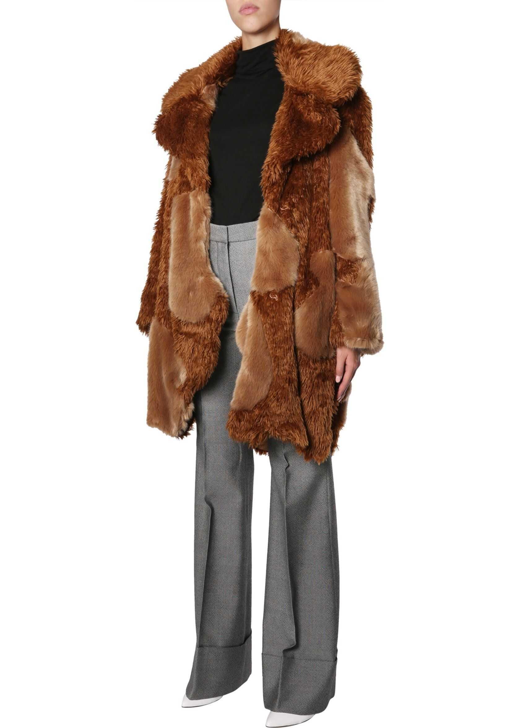 Stella McCartney Faux Fur Coat BROWN
