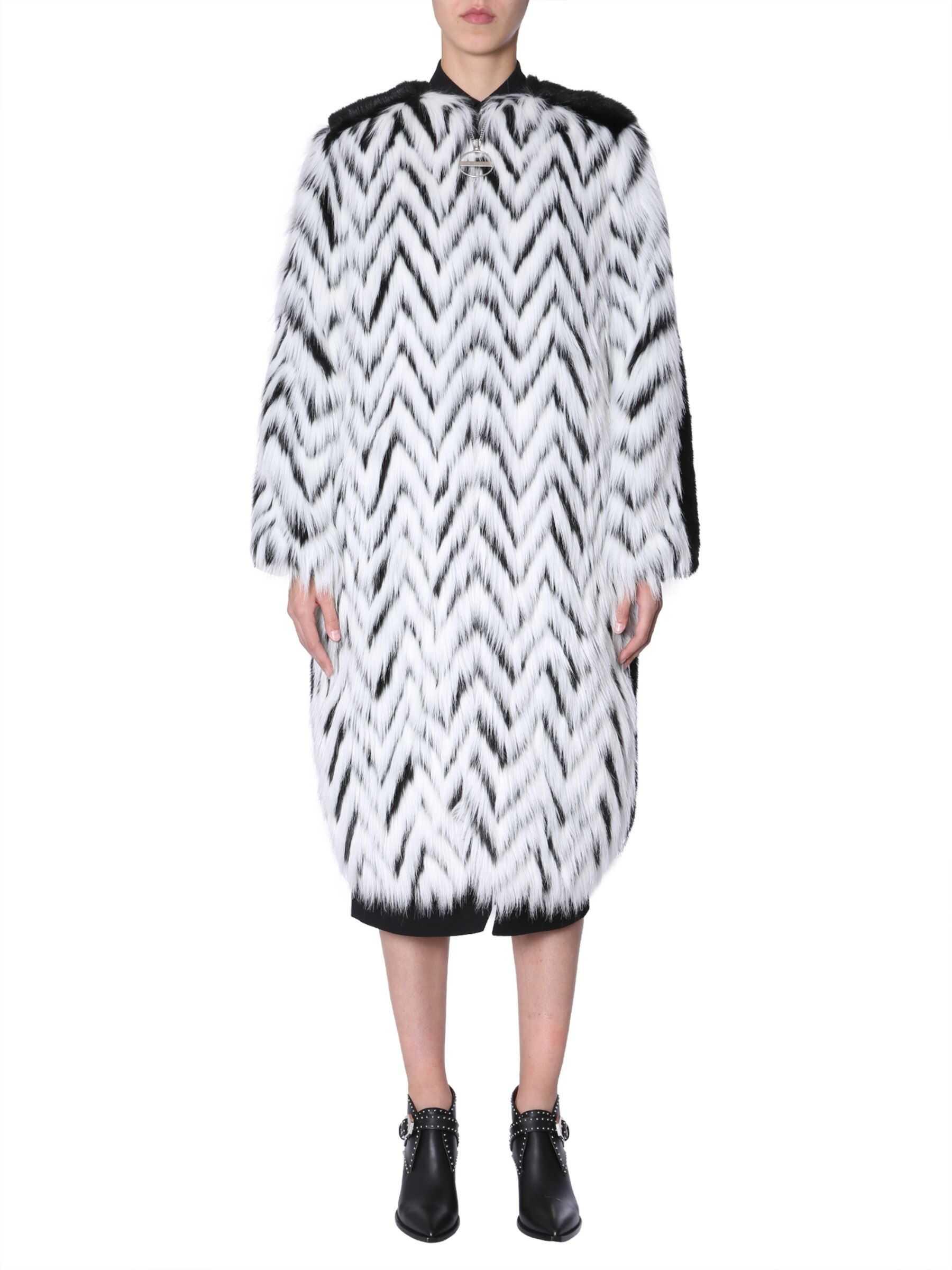 Givenchy Faux Fur Long Coat BLACK