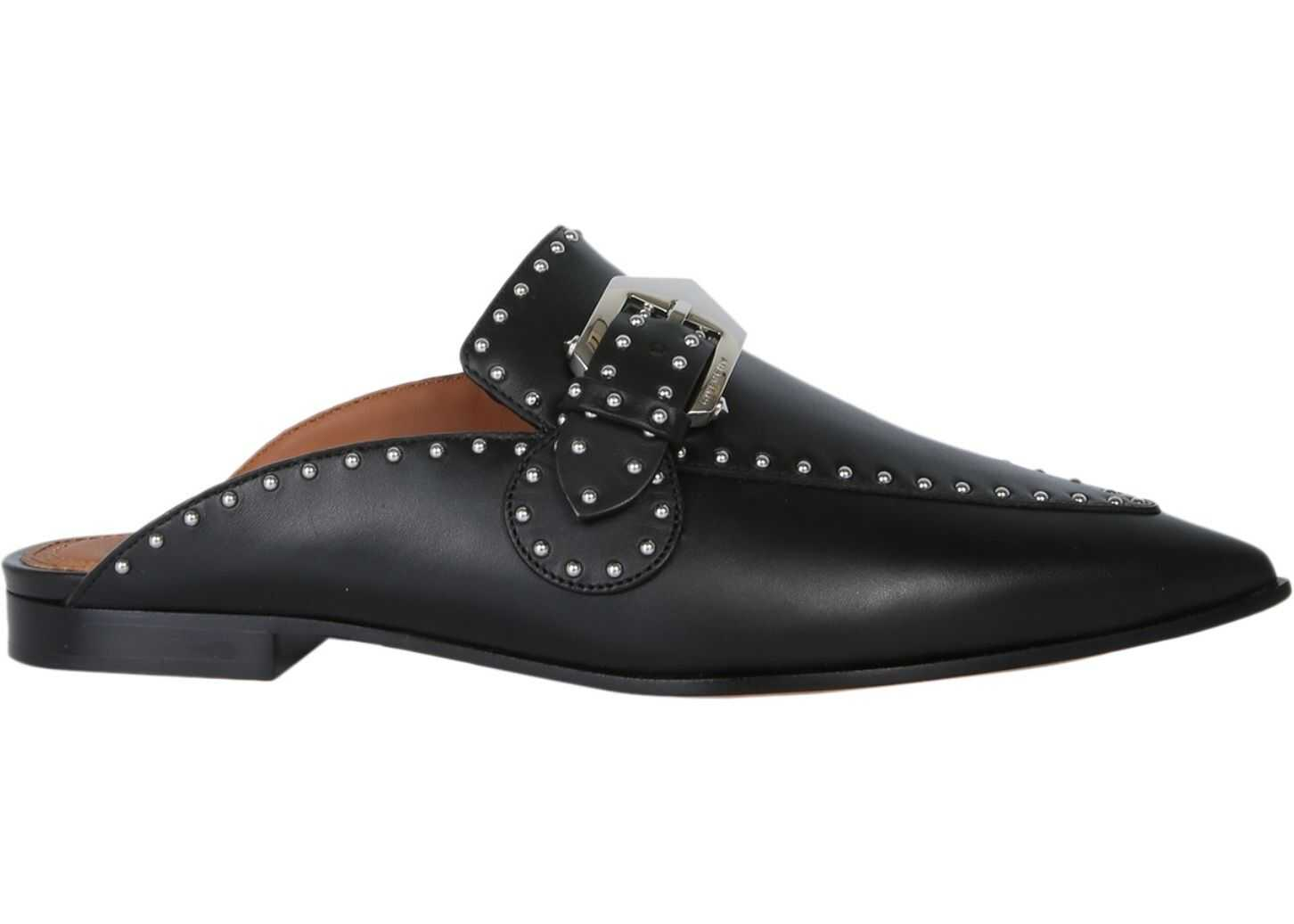 Givenchy Studded Leather Loafers BLACK