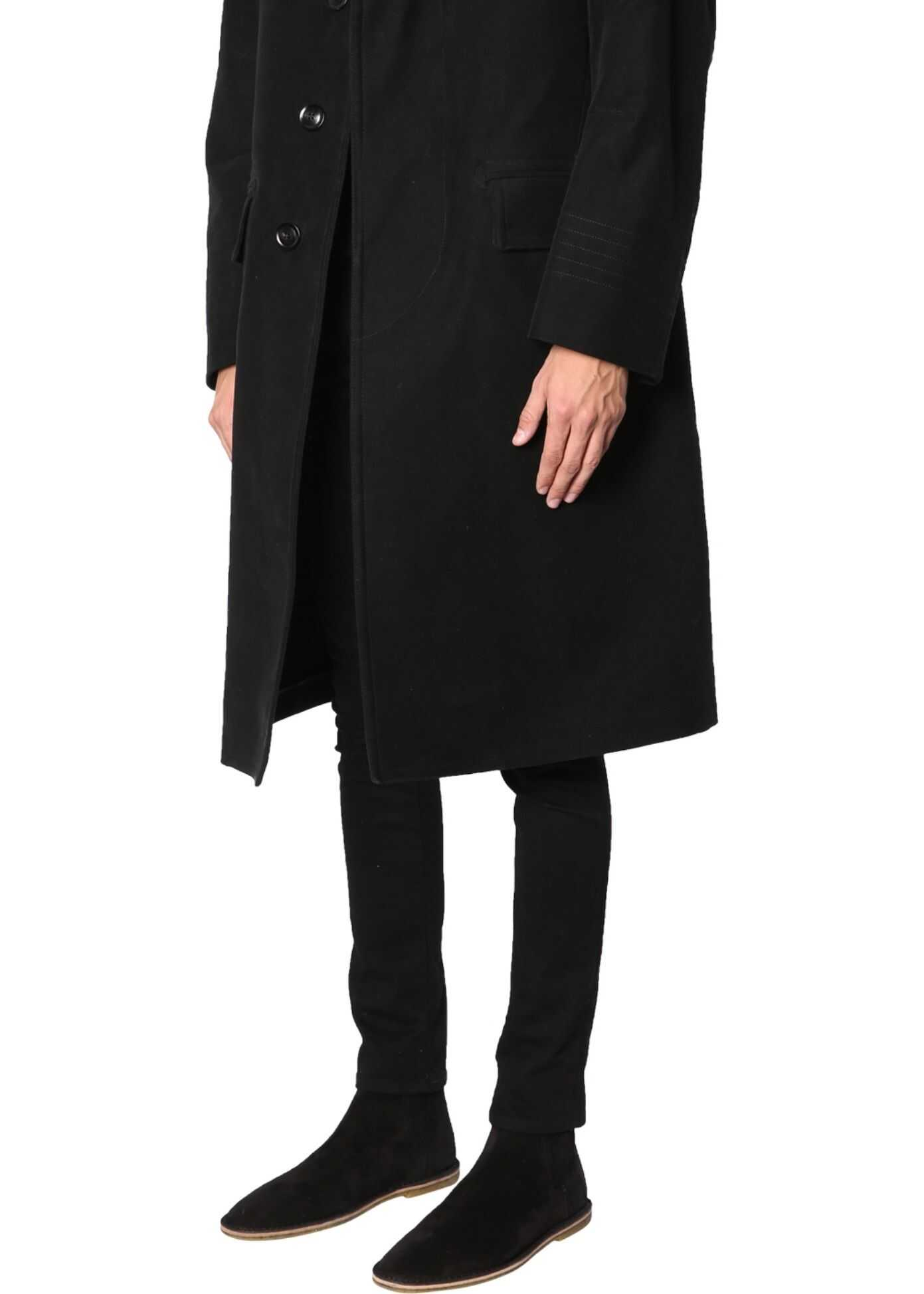 Tom Ford Coat With Shearling Collar BLACK
