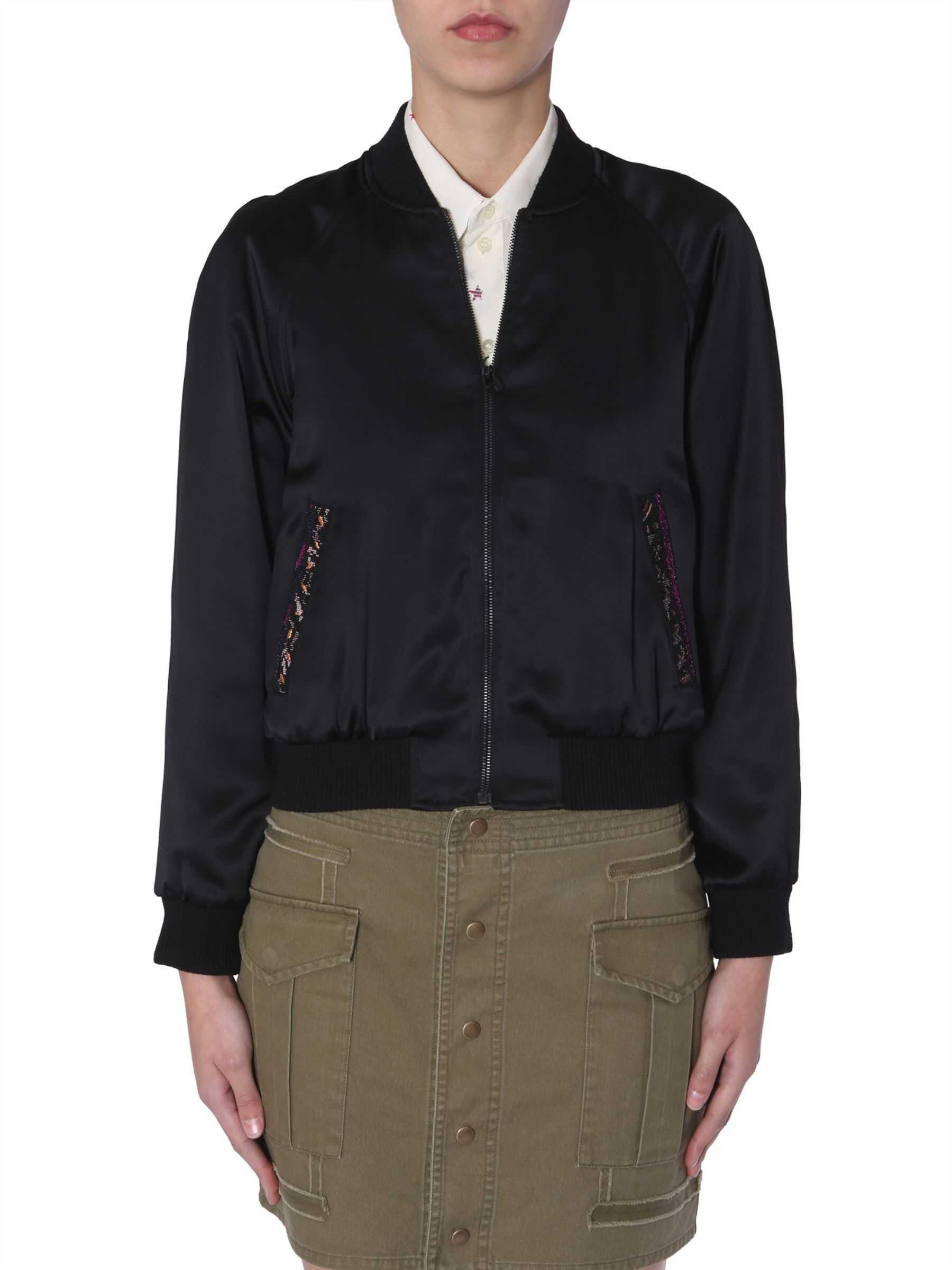 Saint Laurent Teddy Jacket In Satin BLACK