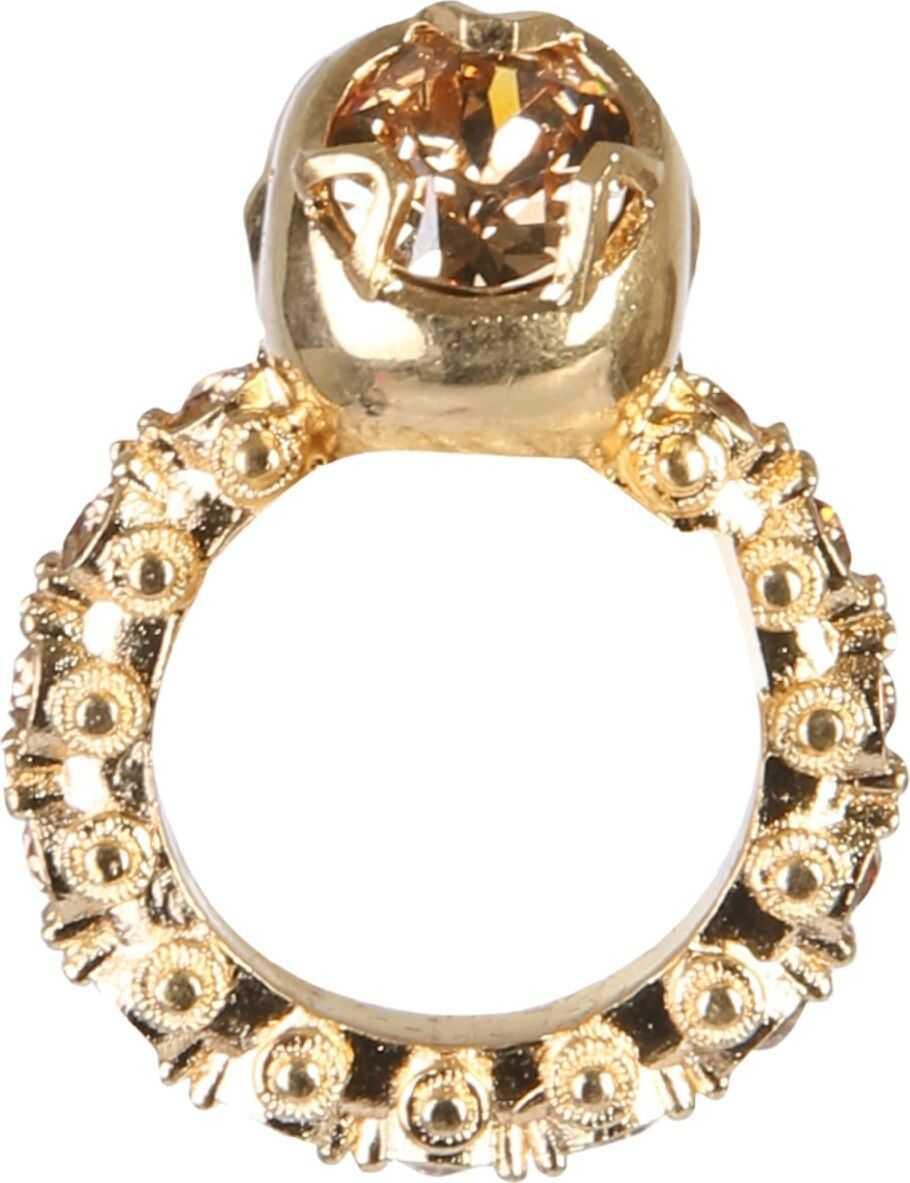 Alexander McQueen Skull Ring GOLD
