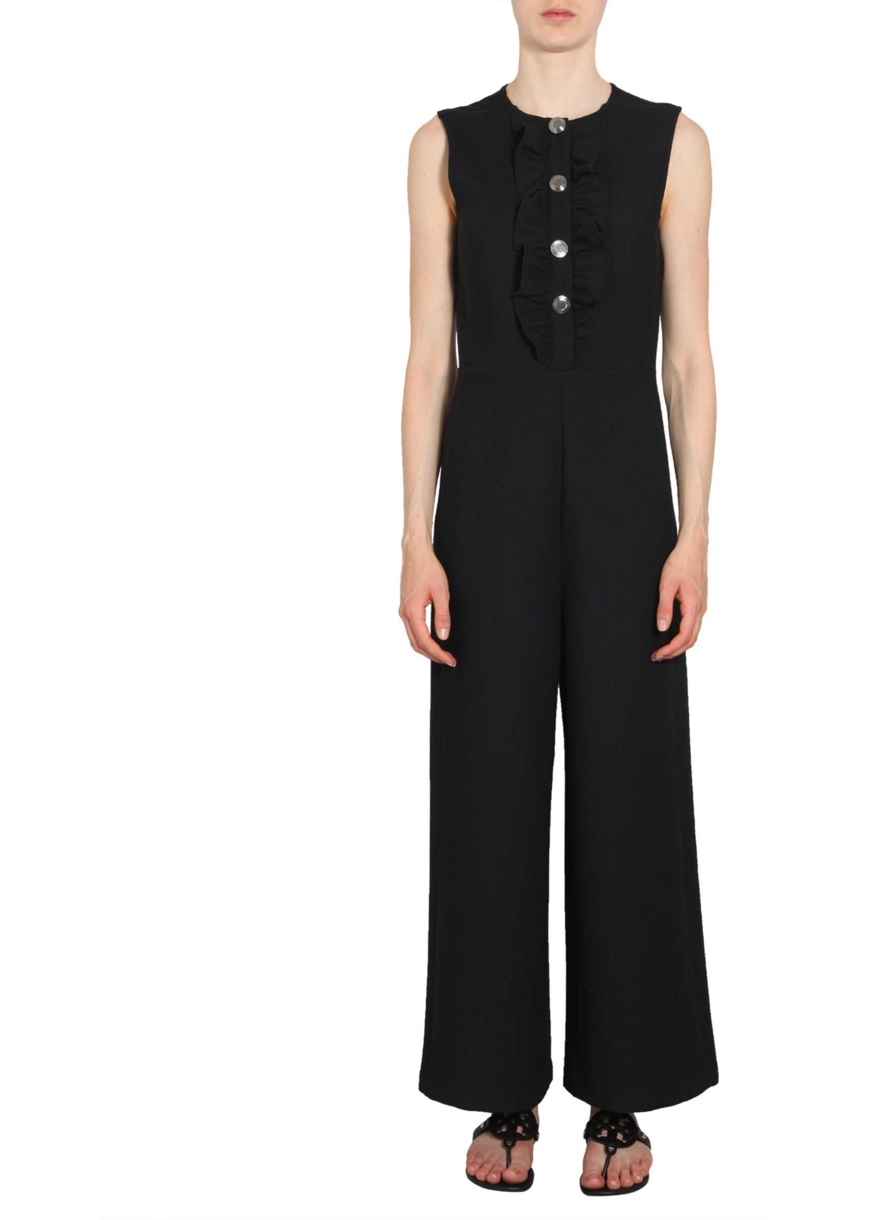 Tory Burch Overalls With Ruches BLACK
