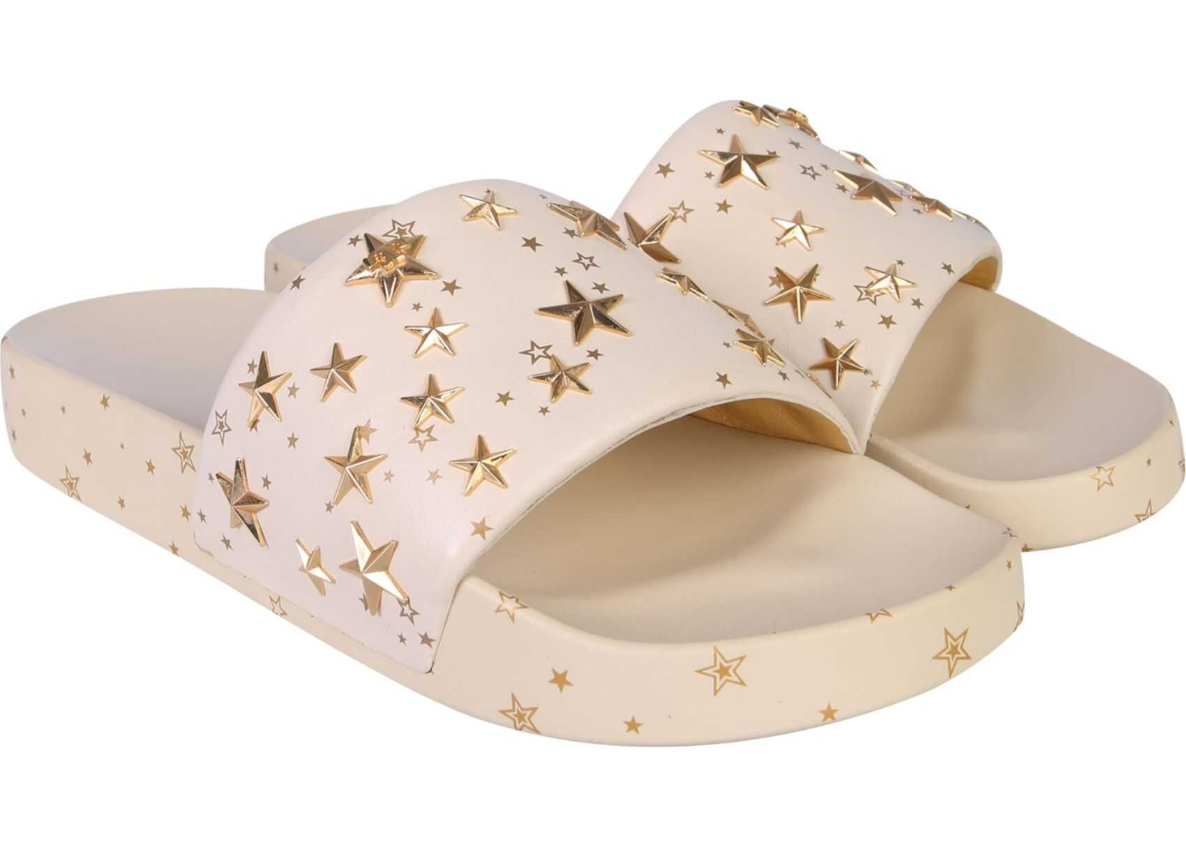 Tory Burch Slide Sandals With Stars BEIGE
