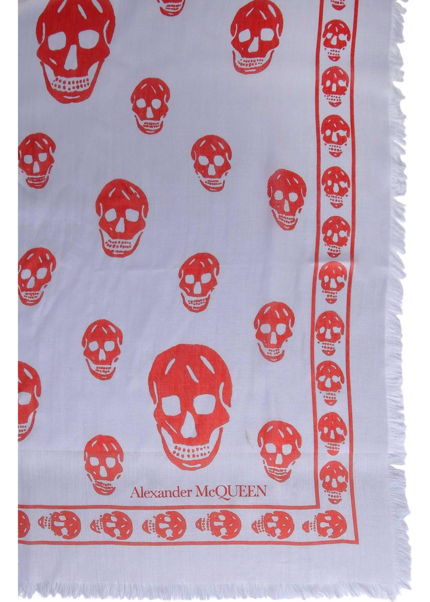 Alexander McQueen Classic Skull Foulard LILAC