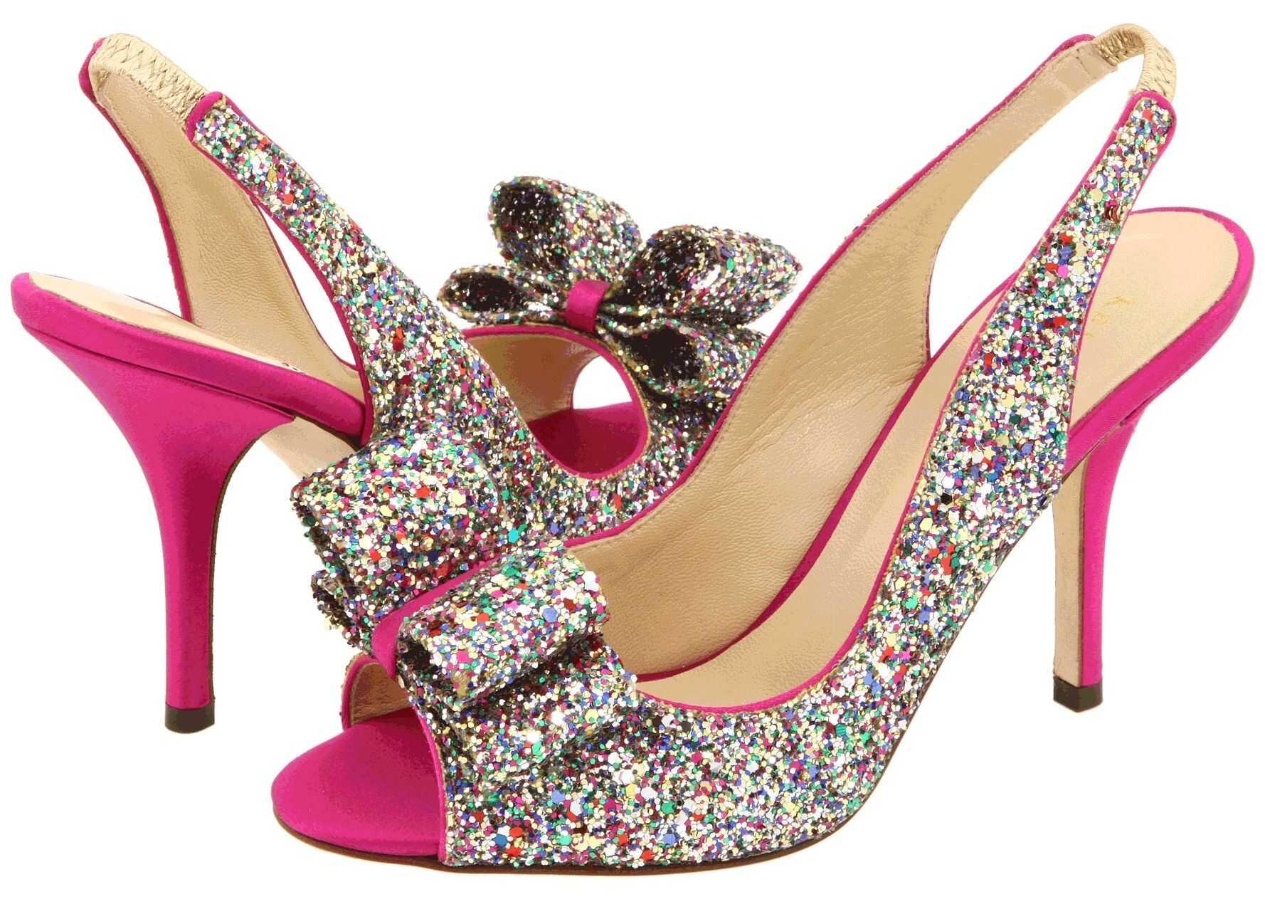 Kate Spade New York Charm Heel Multi Sparkle Glitter