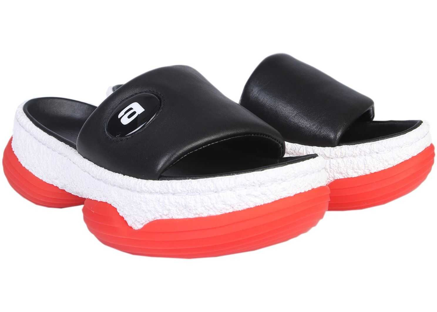 Alexander Wang A1 Slide Sandals BLACK