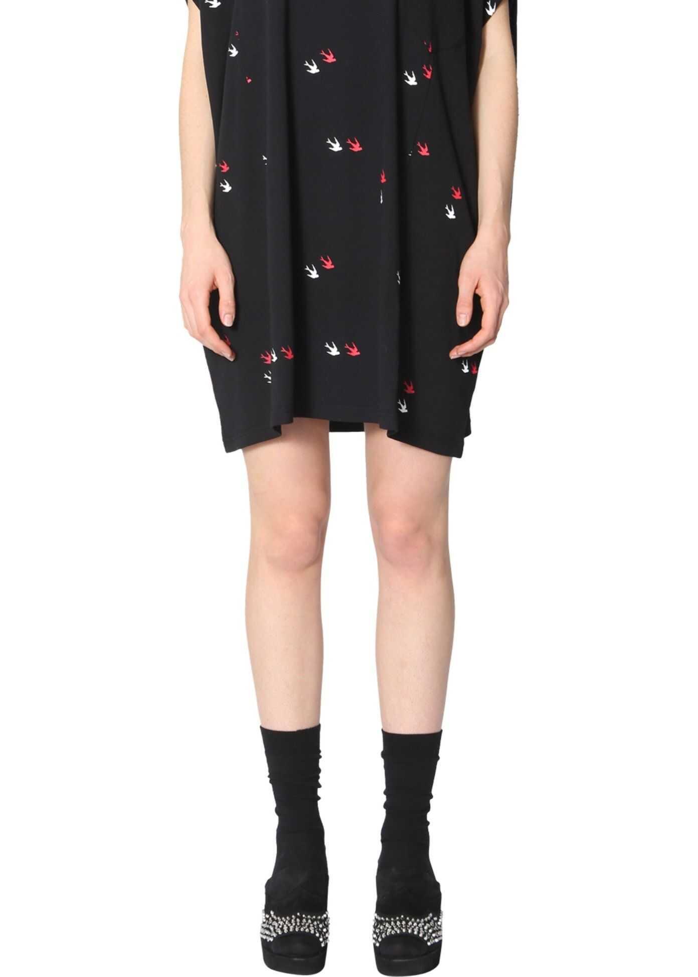 MCQ Alexander McQueen Cotton T-Shirt Dress BLACK