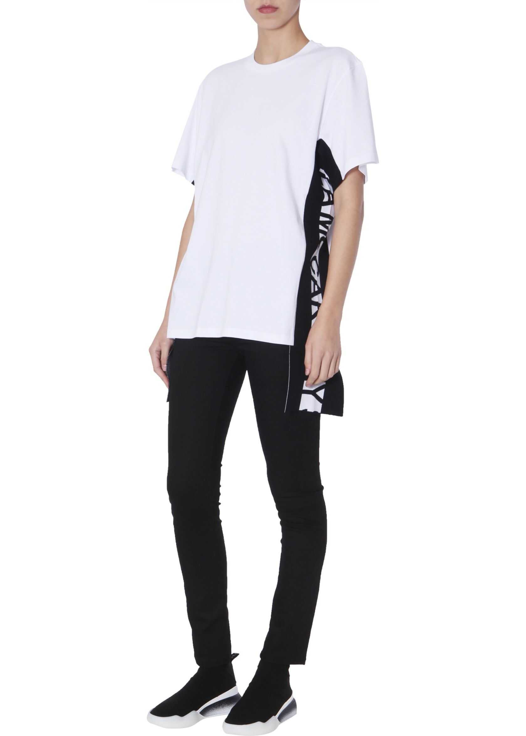 adidas by Stella McCartney T-Shirt With Logo Inserts WHITE
