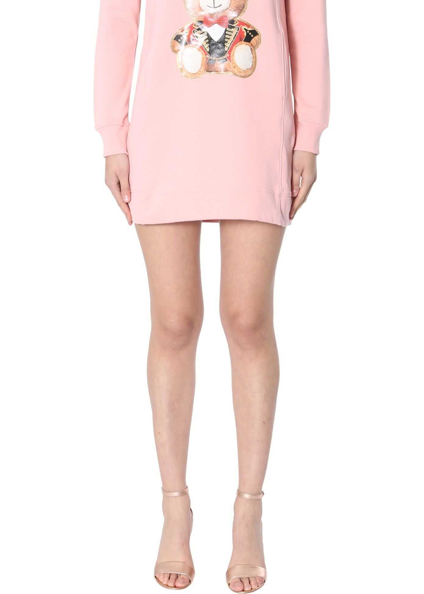 Moschino Cotton Fleece Dress PINK