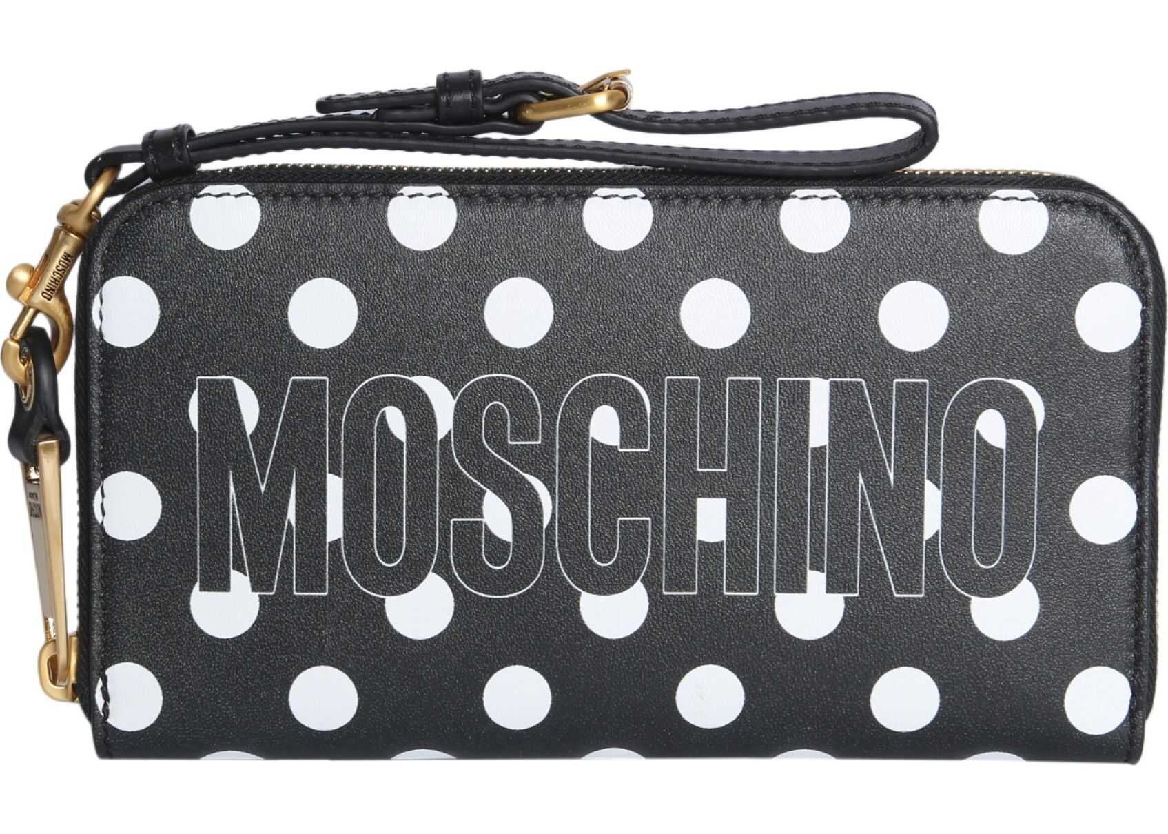 Moschino Zip Around Wallet BLACK