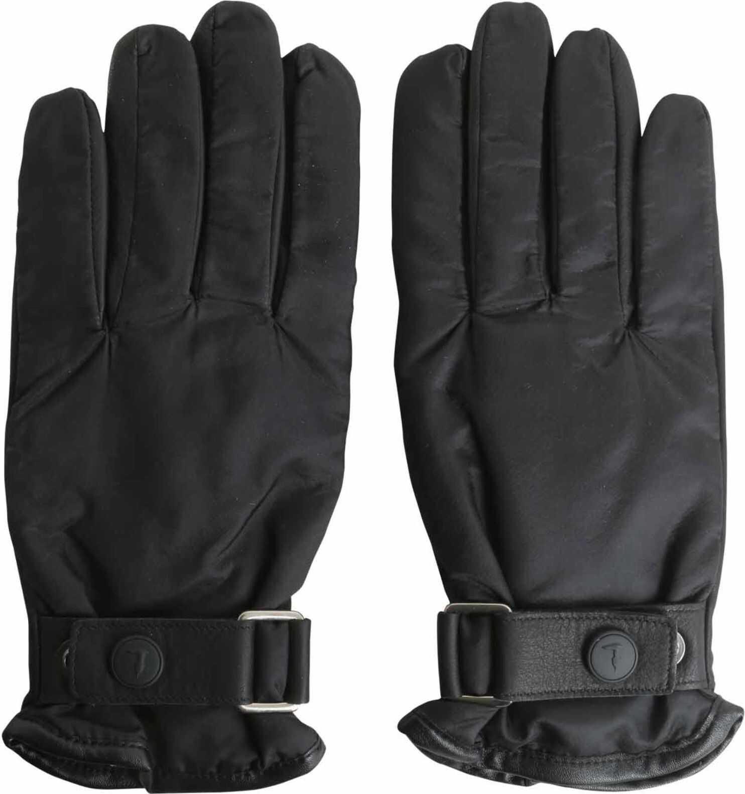 Tru Trussardi Gloves With Strap BLACK