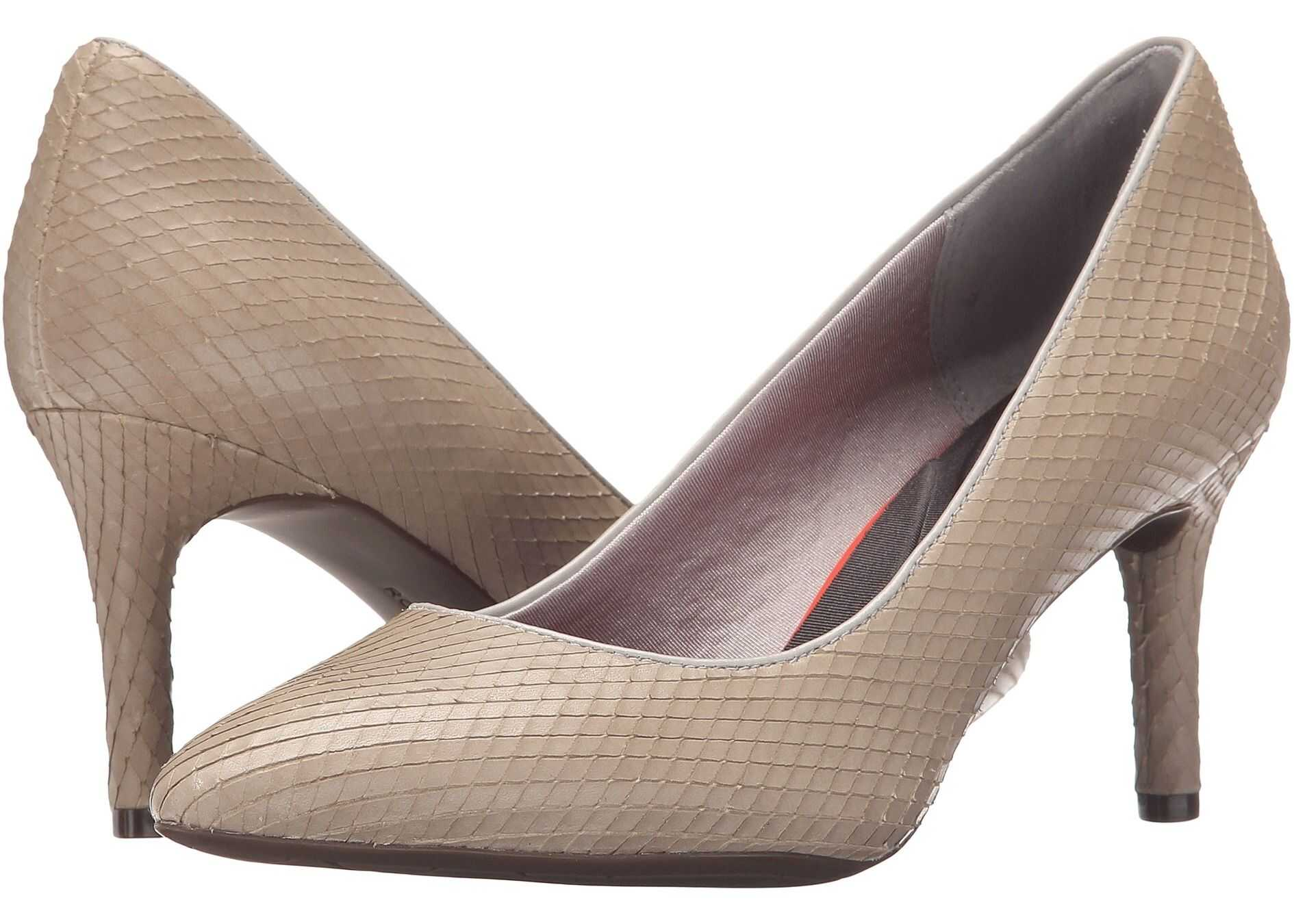 Rockport Total Motion 75mm Pointy Toe Pump Smog Diamond Snake