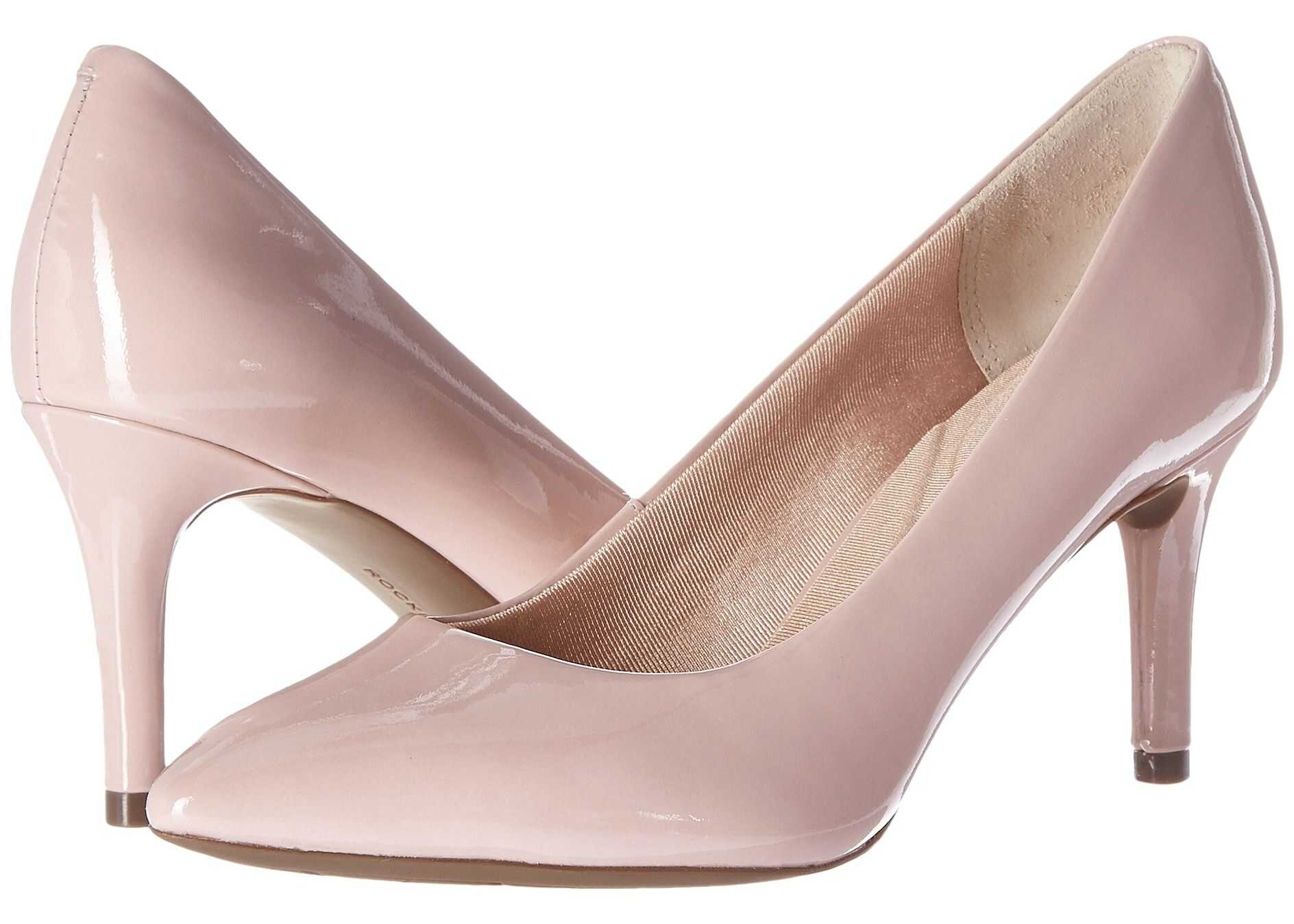 Rockport Total Motion 75mm Pointy Toe Pump Pale Mauve Patent