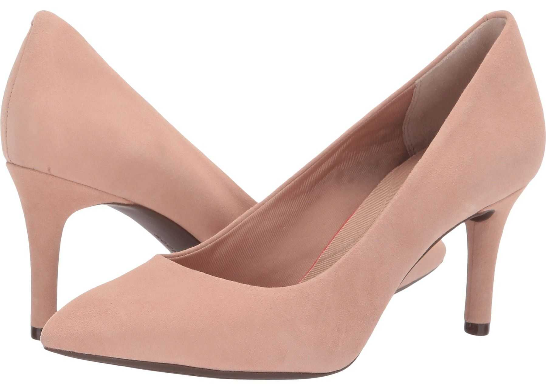 Rockport Total Motion 75mm Pointy Toe Pump Dusty Peach
