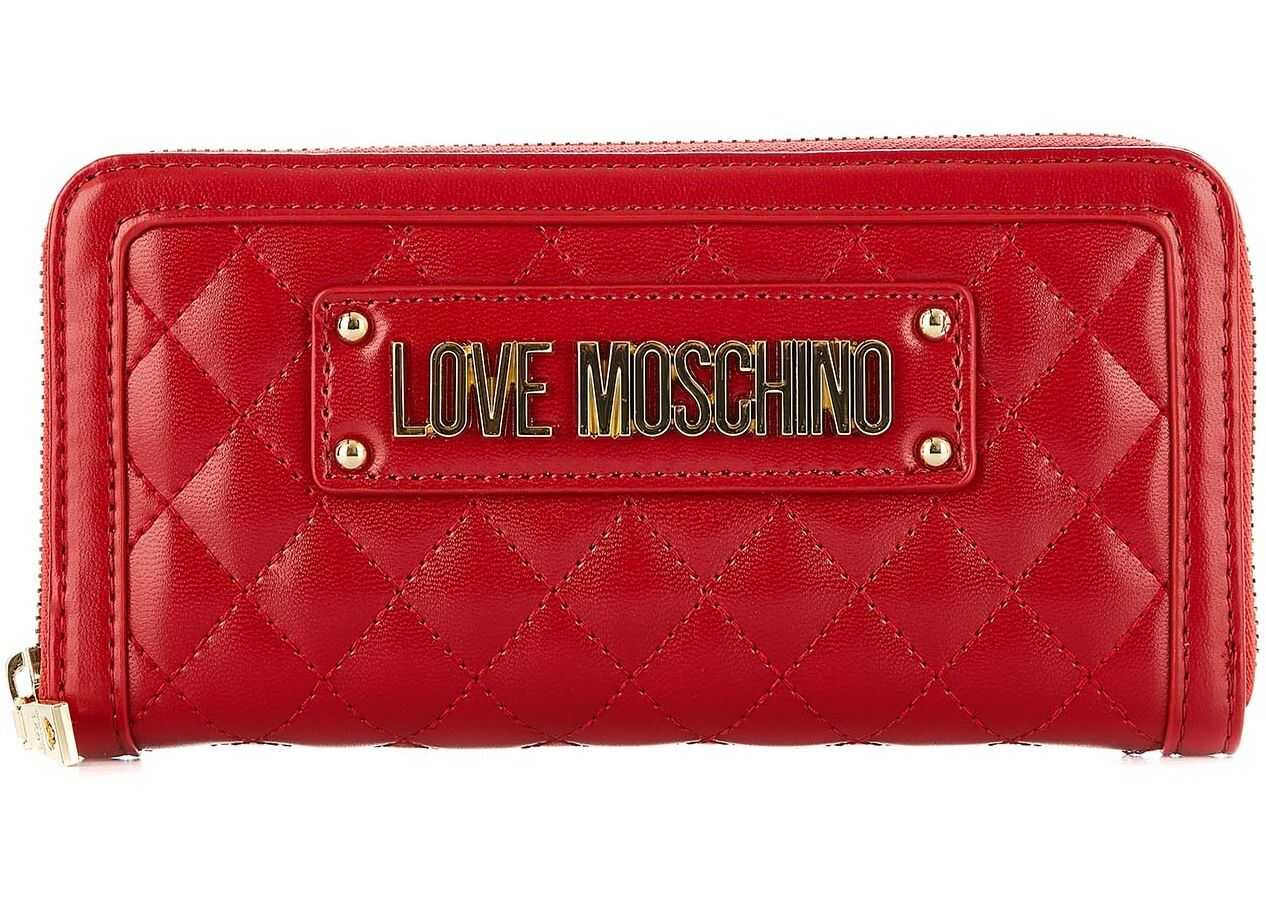 LOVE Moschino Quilted purse Red