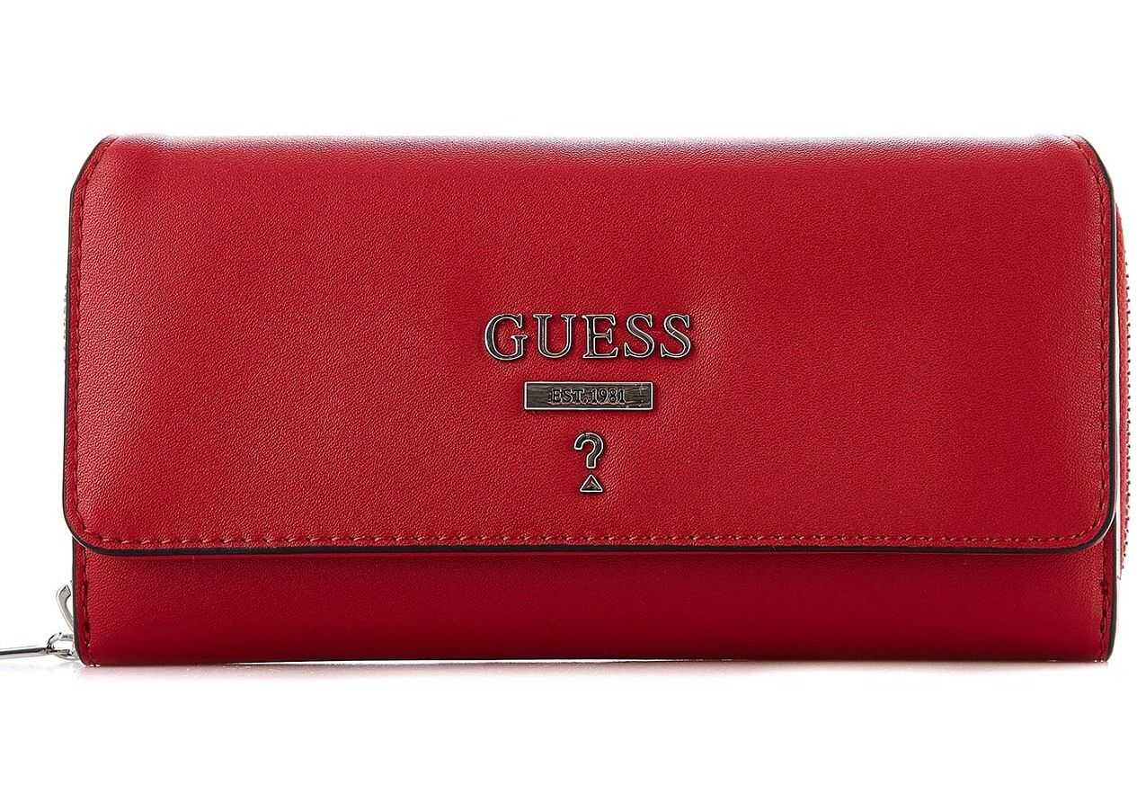 GUESS Folding wallet in faux leather Red