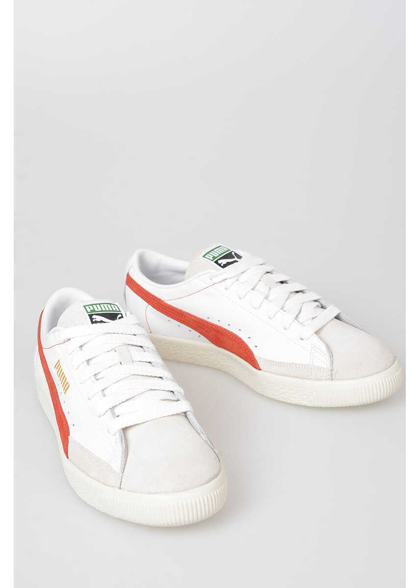 PUMA Leather BASKET 90680 Sneakers WHITE