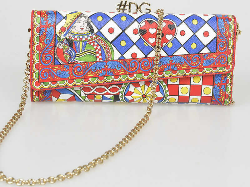 Dolce & Gabbana Printed Leather Wallet Bag N/A