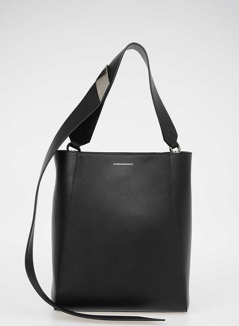 Calvin Klein 205W39NYC Leather Bucket Bag BLACK
