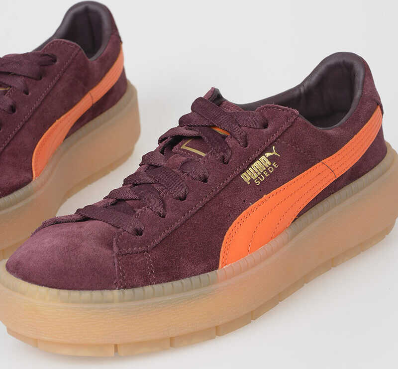 PUMA Leather PLATFORM TRACE Sneakers VIOLET