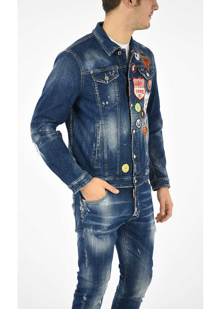 DSQUARED2 Jean Jacket with Patches N/A