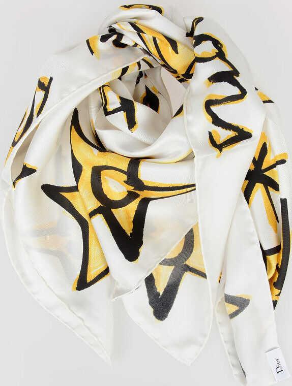 Dior 90x90cm Silk LE POISSONS Foulard N/A