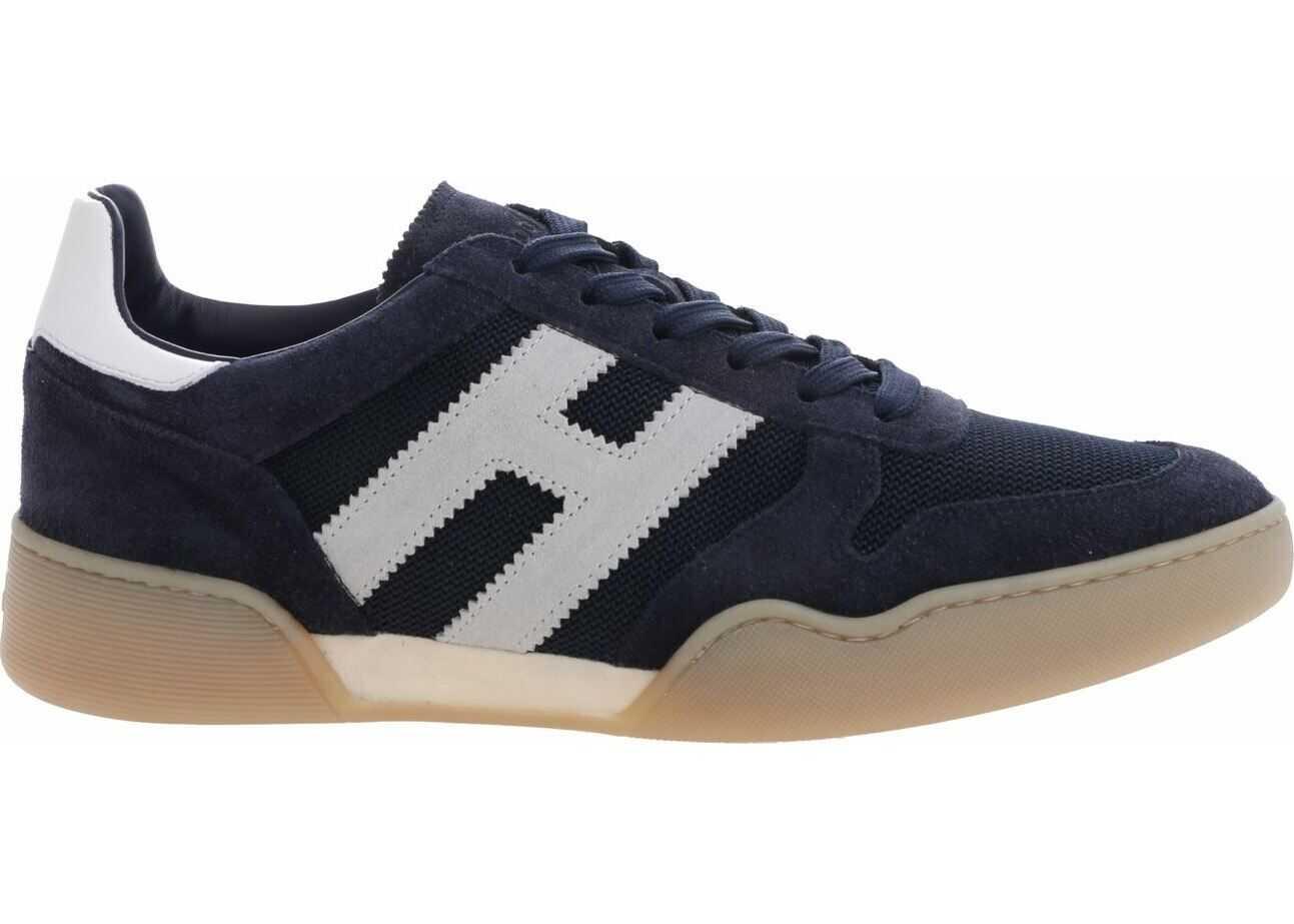 Hogan H357 Sneakers In Blue Suede Blue