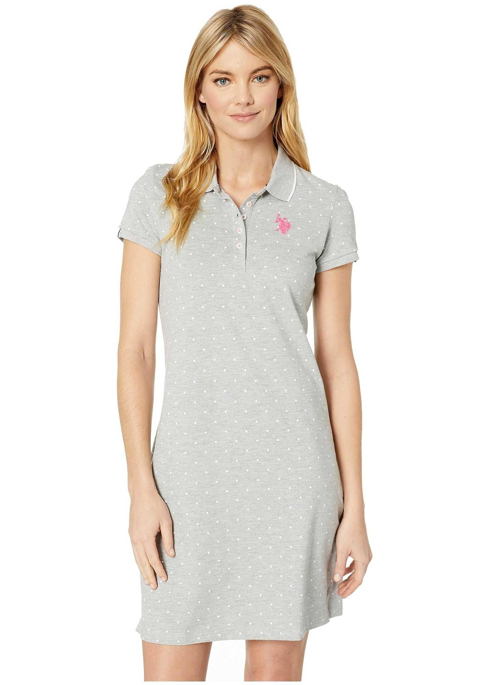 U.S. POLO ASSN. Dot Polo Dress Heather Grey