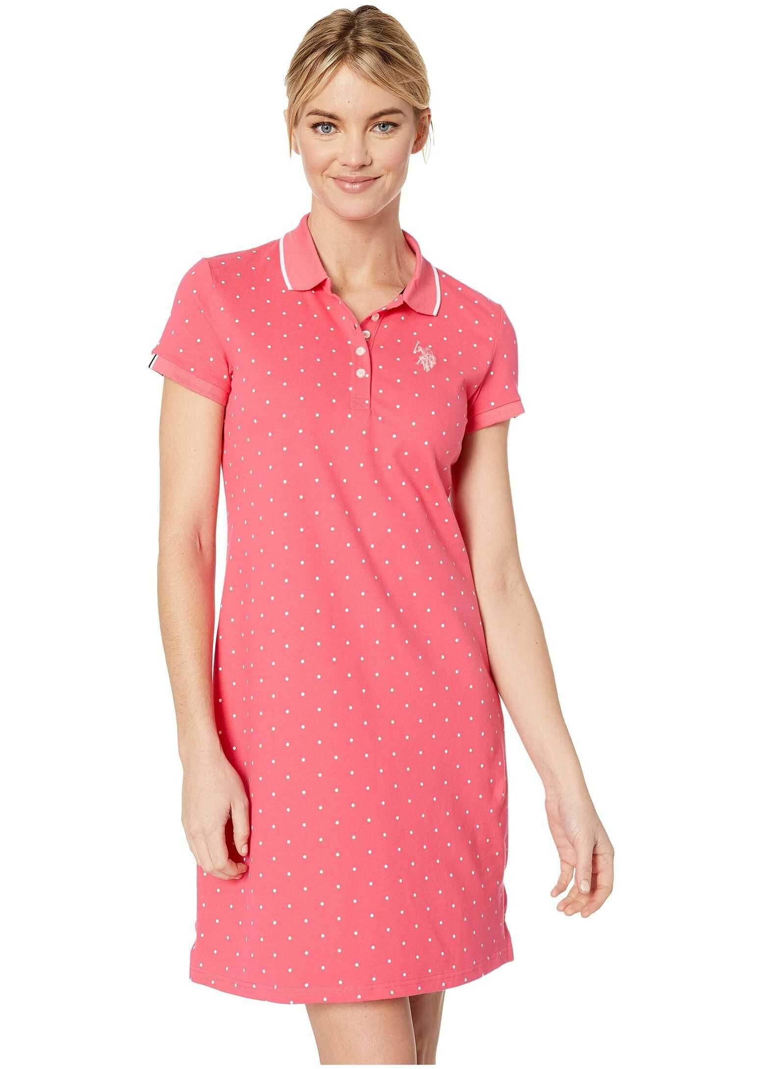 U.S. POLO ASSN. Dot Polo Dress Shangri La Rose