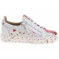 Tenisi & Adidasi Double Sketch Sneakers In Red And White Barbati