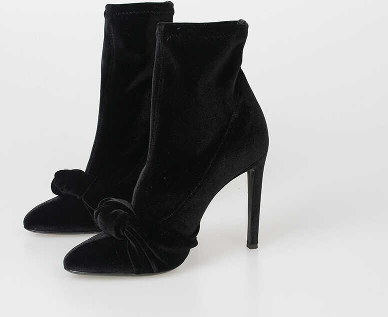 Giuseppe Zanotti 11cm Velvet BIMBA Boots BLACK