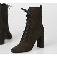 Botine 10cm Suede Leather boots Femei