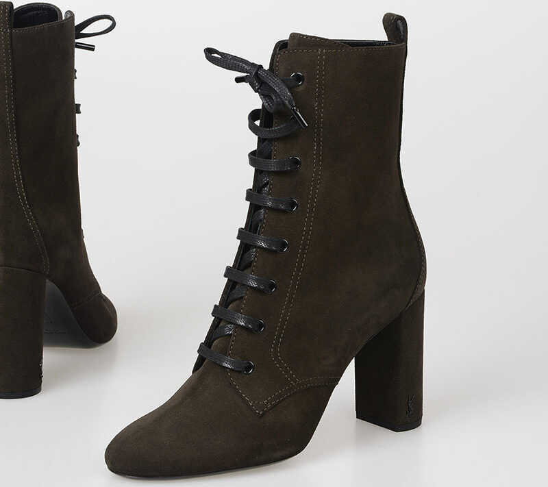 Saint Laurent 10cm Suede Leather boots N/A
