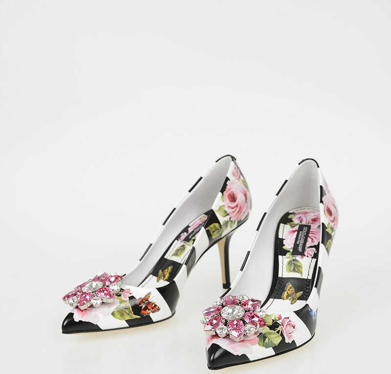 Dolce & Gabbana 8 CM Printed Leather BELLUCCI Pumps N/A