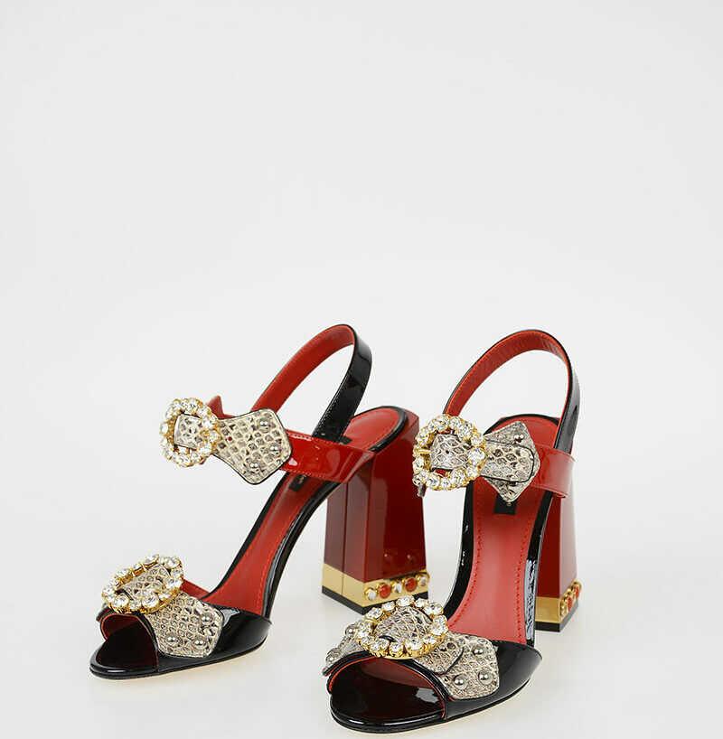 Dolce & Gabbana 11 Cm Ayers Skin KEIRA Sandals N/A