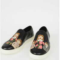 Tenisi & Adidasi Dolce & Gabbana Leather LONDON Slip Ons with FAMILY Patch