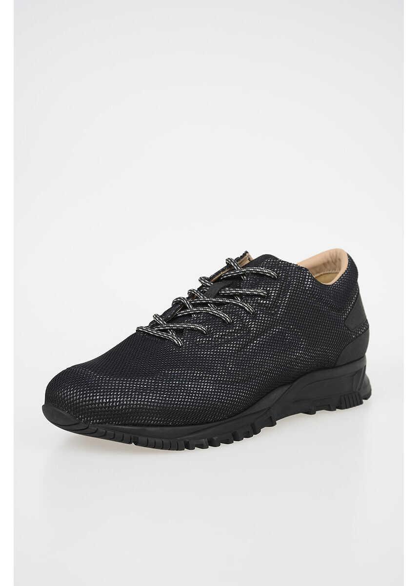 Lanvin Fabric Low Sneakers BLACK