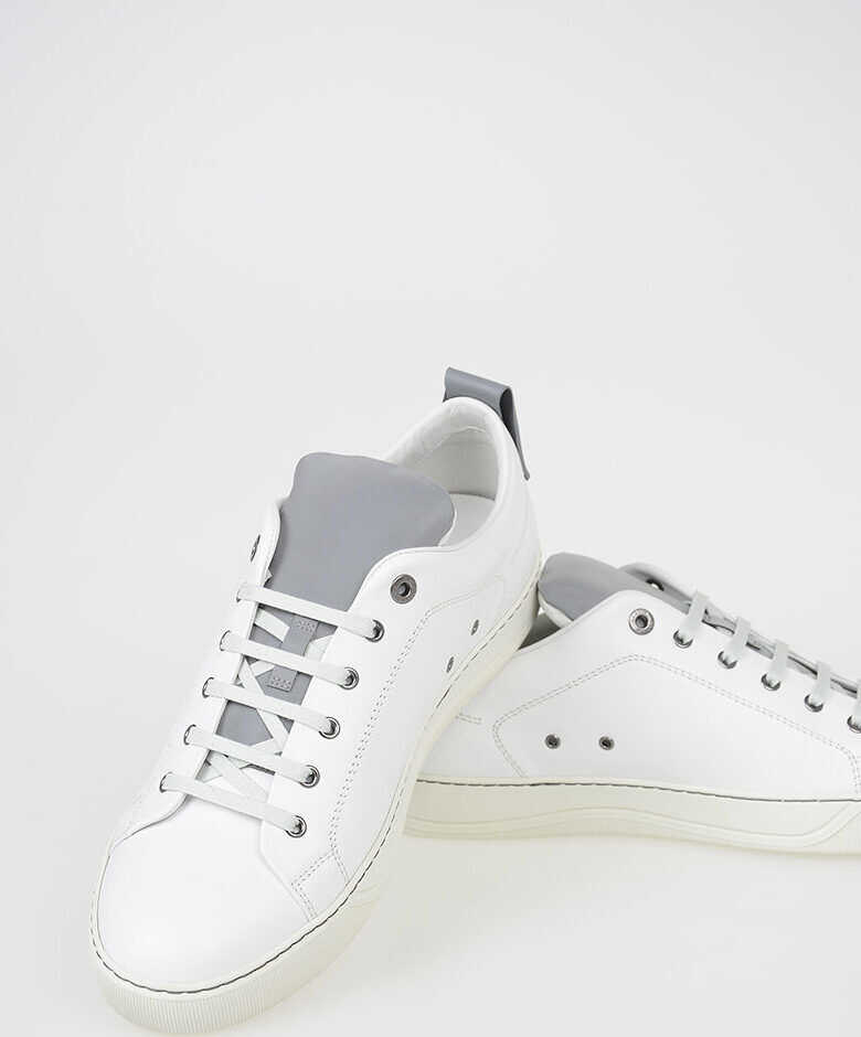 Lanvin Leather Low Sneakers WHITE