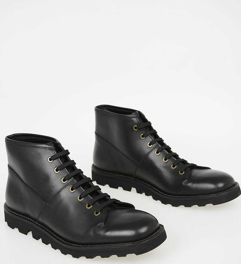 Prada Leather Ankle Boots N/A