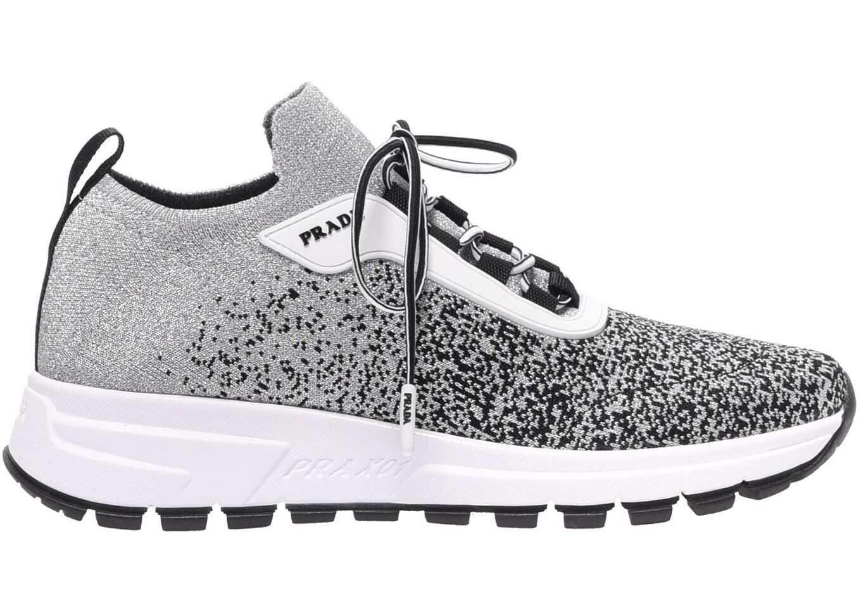 Prada Prax 01 Knit Prada Silver Sneakers Silver