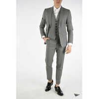 Costume Checked Suit with Gilet Barbati