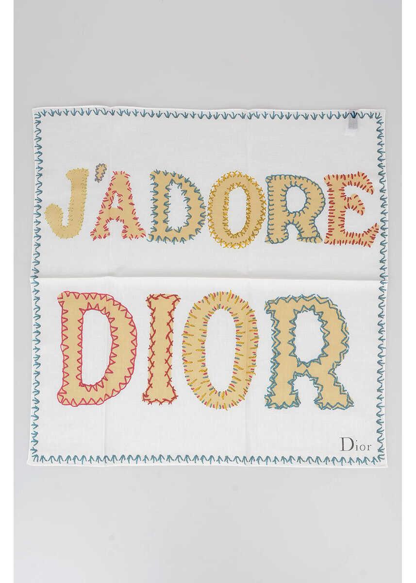 Dior 55x55cm Cotton Pochette Foulard MULTICOLOR